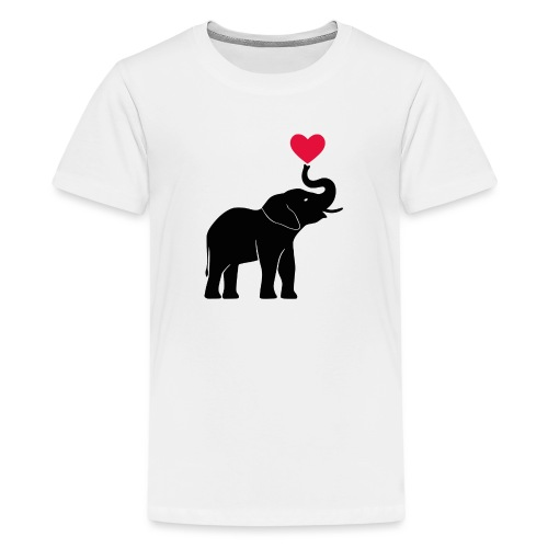 Love Elephants - Teenage Premium T-Shirt