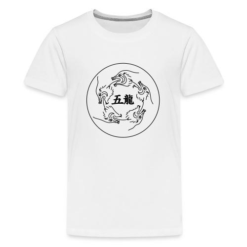 GoRyu Dragons Circle - Teenager Premium T-Shirt