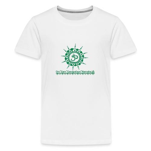 Ganesha Mantra OM Symbol Yoga Tshirt Hoodie - Teenager Premium T-Shirt