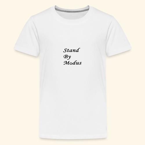 Schrift schwarz - Teenager Premium T-Shirt