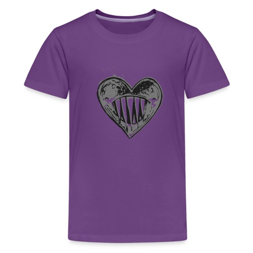 Corazón Negro - Camiseta premium adolescente