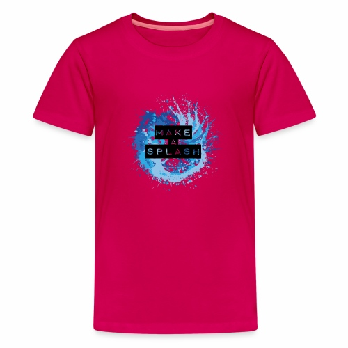 Make a Splash - Aquarell Design in Blau - Teenager Premium T-Shirt