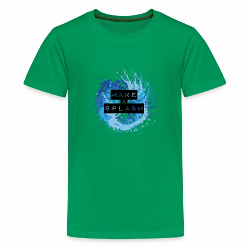Make a Splash - Aquarell Design in Blau - Teenager Premium T-Shirt