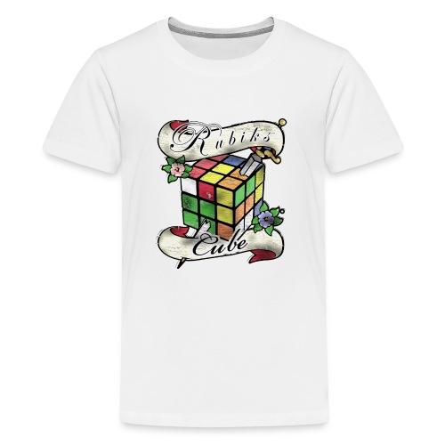 Rubik's Cube Tatoo - Premium T-skjorte for tenåringer