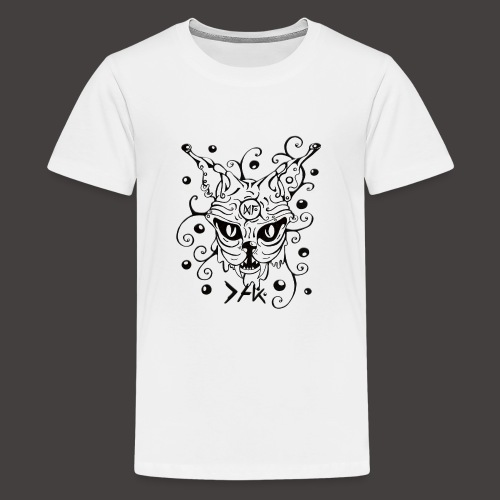 The Cat fond blanc - T-shirt Premium Ado