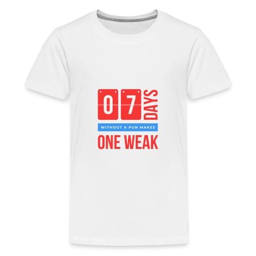 one week - Maglietta Premium per ragazzi