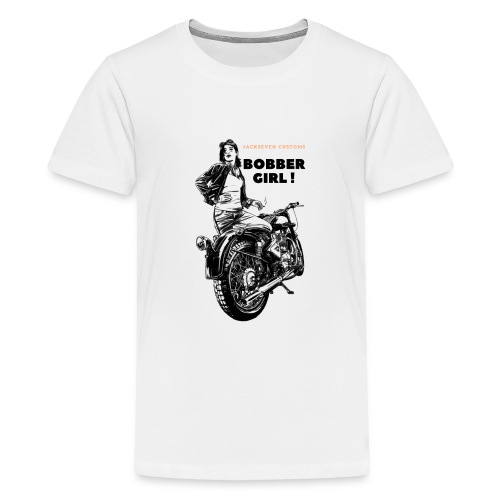 Bobber Girl Chopper Bikerin Vintage Motorrad Frau - Teenager Premium T-Shirt