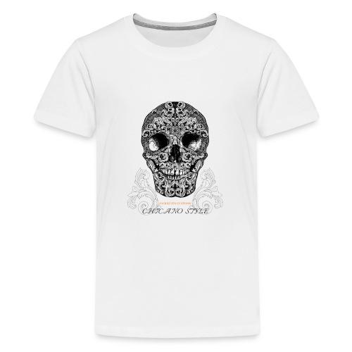 Chicano Style, Motorrad Rocker Skull Totenkopf HD - Teenager Premium T-Shirt