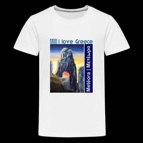 I love Greece. Blue Meteora - Teenager Premium T-Shirt