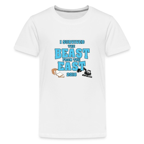 Beast from the East Survivor - Teenage Premium T-Shirt