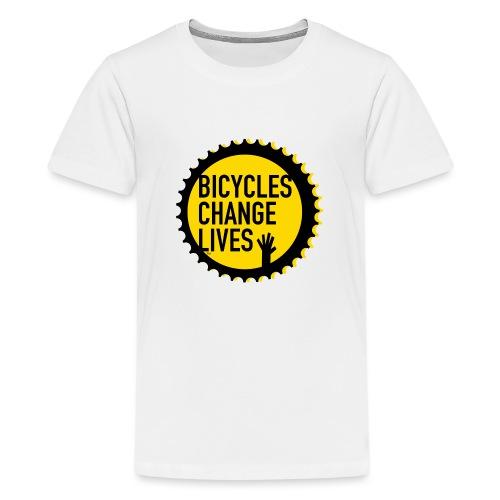 BCL Yellow Cog - Teenage Premium T-Shirt