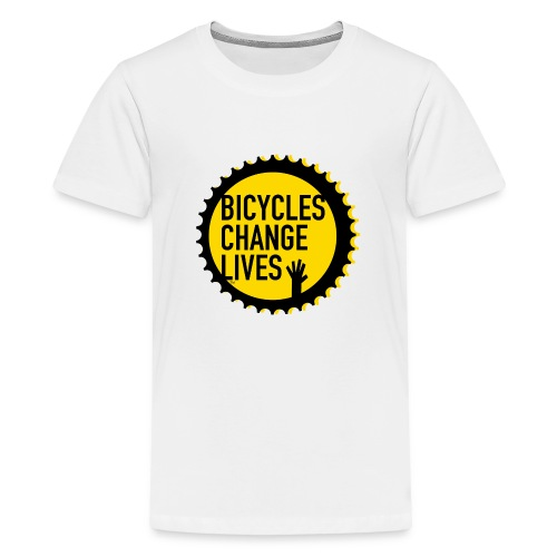BCL Yellow Cog - Teenage Premium T-Shirt