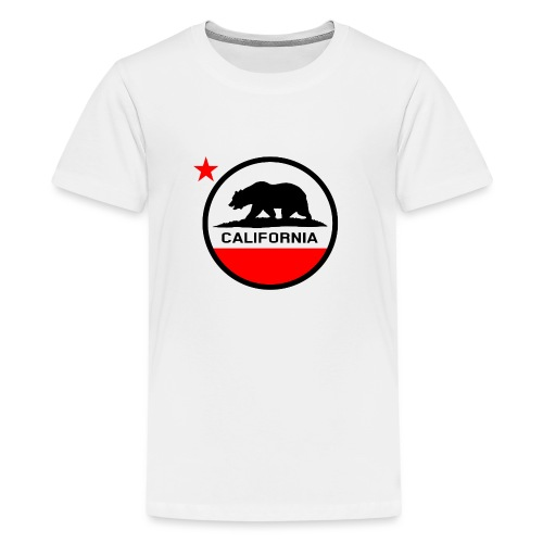 California Circle Flag - Teenage Premium T-Shirt