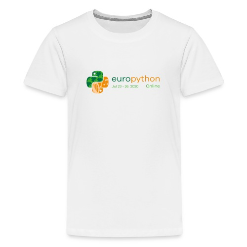 EuroPython 2020 - Color Logo - Teenage Premium T-Shirt