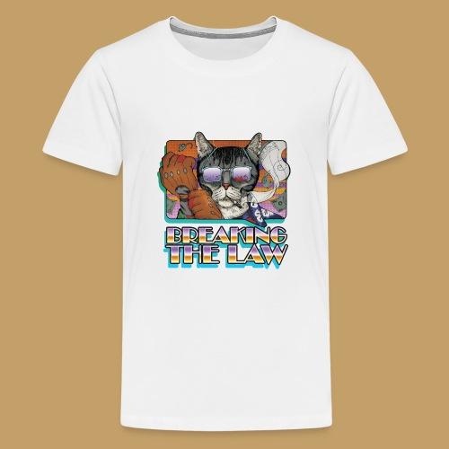 Crime Cat in Shades - Braking the Law - Koszulka młodzieżowa Premium