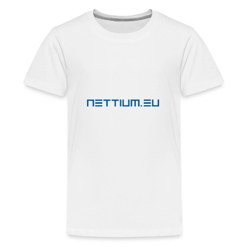 Nettium.eu logo blue - Teenage Premium T-Shirt