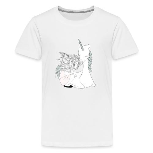 Magisches Einhornmädchen - Teenager Premium T-Shirt