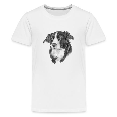 border collie 1 - Teenager premium T-shirt