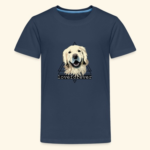 RETRIEVER LOVE FOREVER - Camiseta premium adolescente