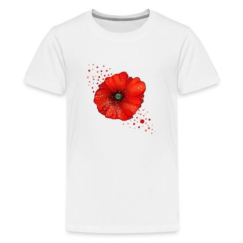 Mohnblume - Teenager Premium T-Shirt