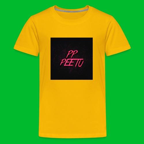 Ppppeetu logo - Teinien premium t-paita
