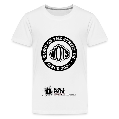 dont hate tshirt tryk - Teenager premium T-shirt