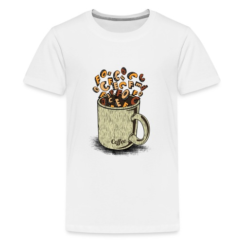 Coffee - Teenage Premium T-Shirt