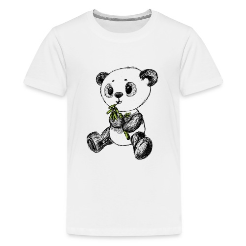 Panda bear colored scribblesirii - Teenage Premium T-Shirt