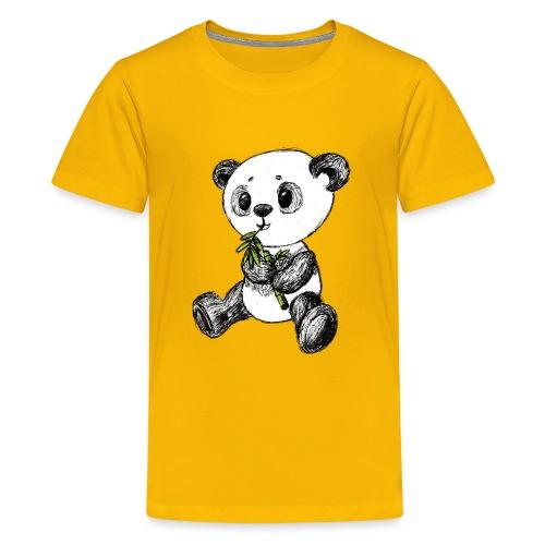 Panda bjørn farvet scribblesirii - Teenager premium T-shirt