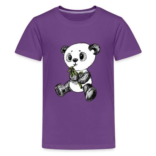 Panda Bär farbig scribblesirii - Teenager Premium T-Shirt