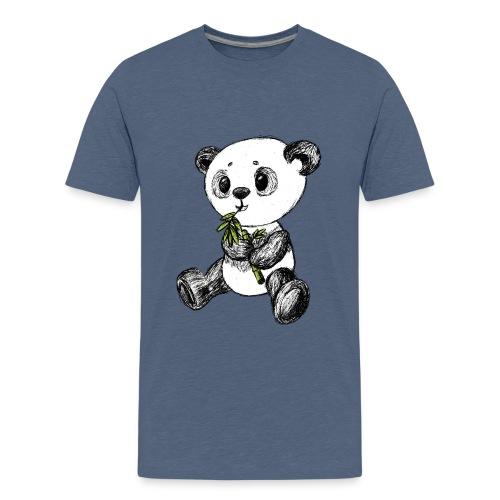 Panda Karhu värillinen scribblesirii - Teinien premium t-paita