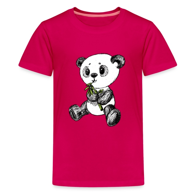 Panda bjørn farvet scribblesirii