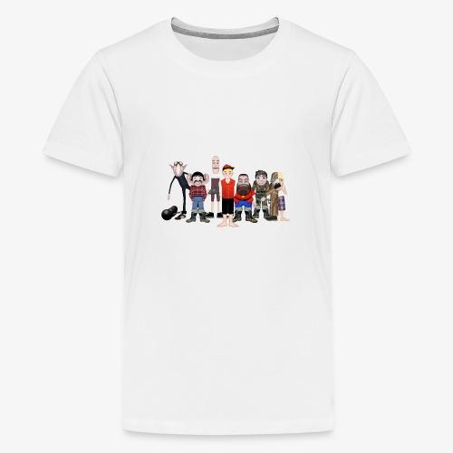 Askeladden og de gode hjelperne - Premium T-skjorte for tenåringer