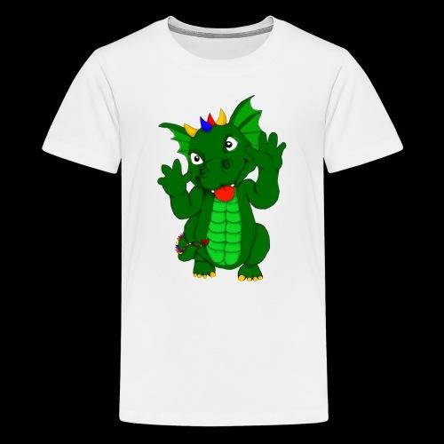 Drache Frechdachs - Teenager Premium T-Shirt