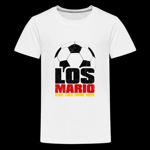 Fußball - Los Mario, hau das Ding rein (3c - Teenager Premium T-Shirt