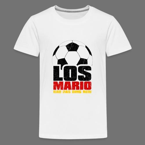 Football - Go Mario, hau moving the thing in (3c - Teenage Premium T-Shirt