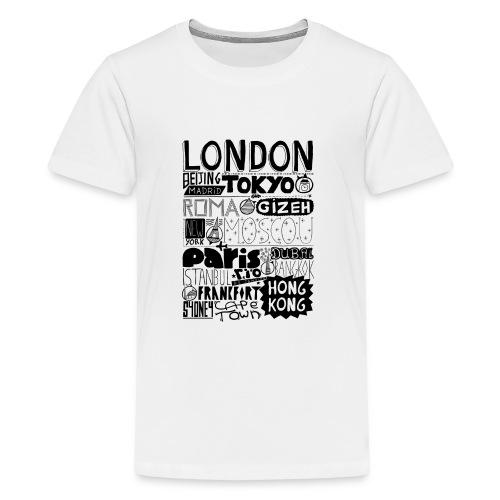 Villes du monde - T-shirt Premium Ado