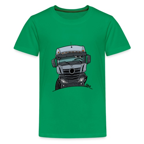0807 M Truck grijs - Teenager Premium T-shirt