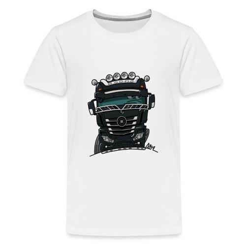 0807 M truck zwart - Teenager Premium T-shirt