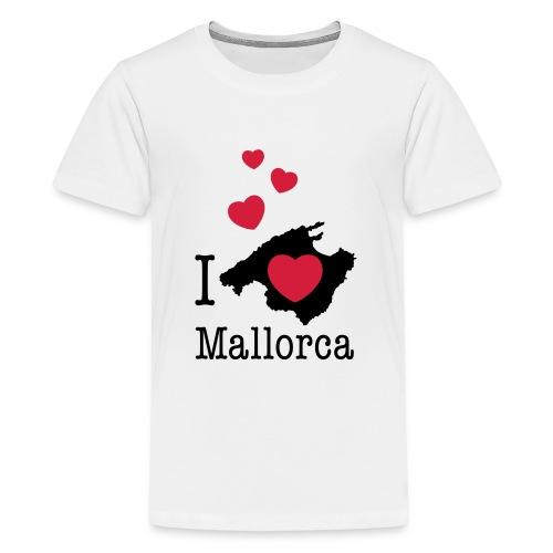 love Mallorca Balearen Spanien Ferieninsel Urlaub - Teenage Premium T-Shirt