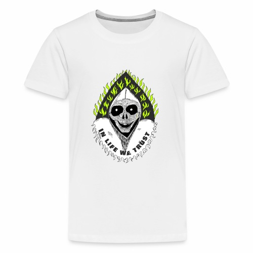 Image of death v2 with text IN LIFE WE TRUST - T-shirt Premium Ado
