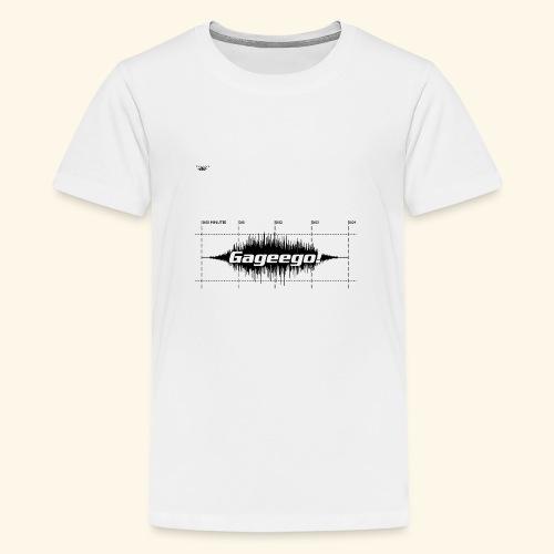 Gageego logga vit text - Premium-T-shirt tonåring