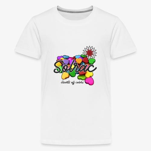 SOLRAC Hearts White - Camiseta premium adolescente