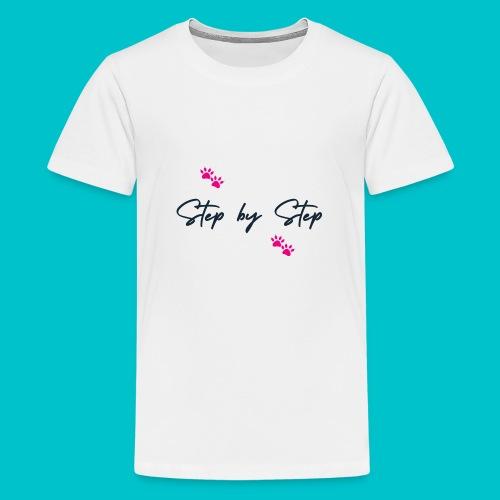 Step by Step (zampine rosa) - Maglietta Premium per ragazzi
