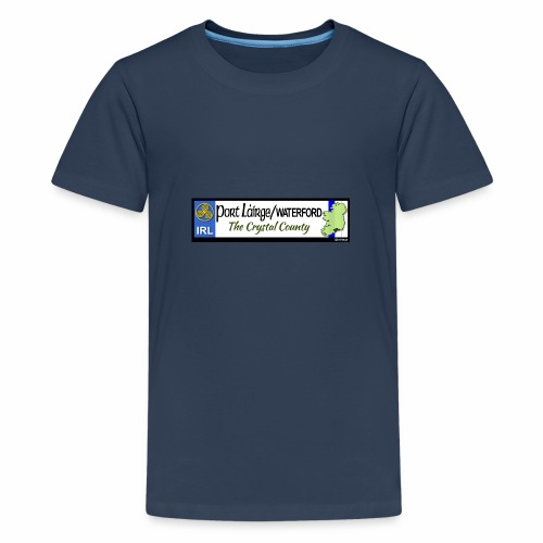 WATERFORD, IRELAND: licence plate tag style decal - Teenage Premium T-Shirt