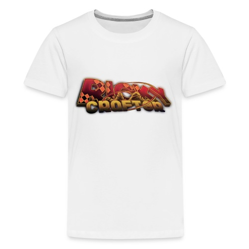 Text Only Rickycrafter png - Teenager Premium T-Shirt