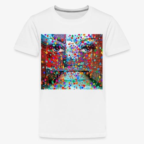 10 Hamburg Augen Speicherstadt Fleet Luftballons - Teenager Premium T-Shirt
