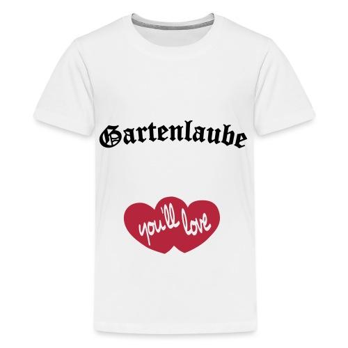 Gartenlaube Logo - Teenager Premium T-Shirt
