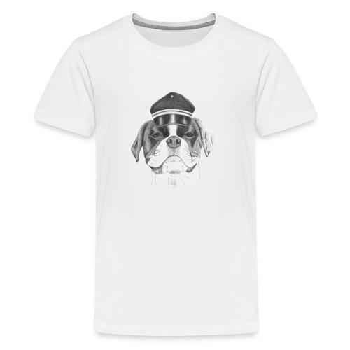 Boxer with cap - Teenager premium T-shirt