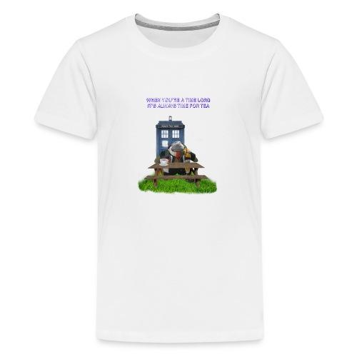 TIME AND SPACE AND TEA - Teenage Premium T-Shirt